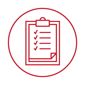 Graduation checklist icon